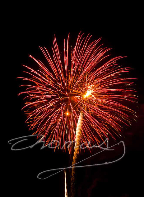 Fireworks, Oak Ridge, Tennessee 2011, Thomas Haynes photo