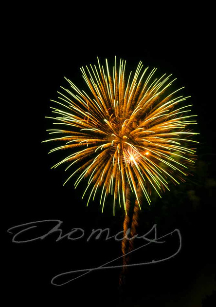 Firework Colors, Spray, Oak Ridge, Tenn., Thomas Haynes Photo